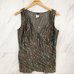 Patagonia  |  Hemp Blend Sleeveless Blouse, Sz 14